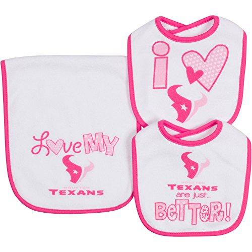 Girls Infant Houston Texans Navy/White/Pink 3-Pack Bodysuit