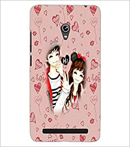 PrintDhaba Couple D-5739 Back Case Cover for ASUS ZENFONE 6 A601CG (Multi-Coloured)