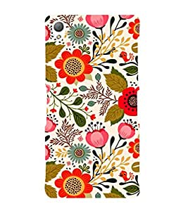 ANIMATED FLOWERS DEPICTING THE BEAUTY OF NATURE 3D Hard Polycarbonate Designer Back Case Cover for Sony Xperia Z3 :: Sony Xperia Z3 D6653 D6603