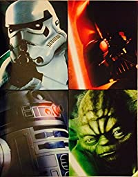 Star Wars Portfolio 2 Pocket School Folders ~ Set of 4