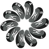 Mizuno Golf Iron head Covers 10pcs/set Black & grey MT/Mz03