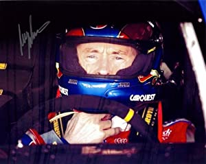 2010 Mark Martin #5 CarQuest In-Car 8X10 SIGNED by Trackside Autographs