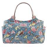 Cath Kidston Oilcloth Day Bag Handbag Blossom Birds Colour Dusty Blue 16SS