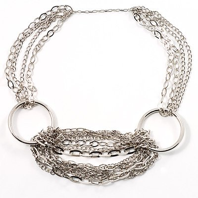 Silver Multi-Stranded Necklace