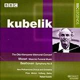 モーツァルト:フリーメイソンの音楽/ベートーヴェン:交響曲第9番「合唱付き」(ニュー・フィルハーモニア管/クーベリック)(1974)