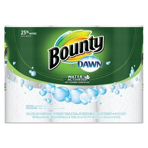 bounty-pgc92379ct-paper-towels-with-dawn-2-ply-11-x-14-49-per-roll-3-pack-by-bounty