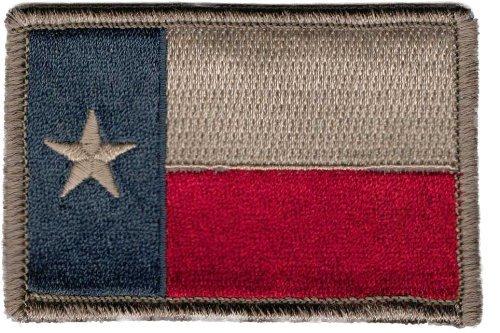 Fixxxer Texas Flag - Tactical Patch, Hook backing 2 x 3