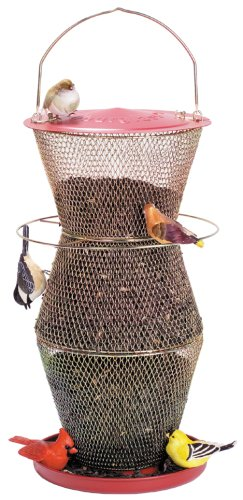 Cheap No/No Red and Brass Super Three Tier Bird Feeder  RB300335 (RB300335)