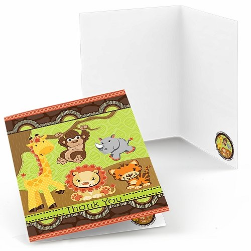 Funfari Fun Safari Jungle Thank You Cards (8