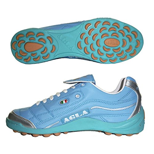 AGLA PROFESSIONAL EVOLUTION OUTDOOR TOP 2 CELESTE scarpe calcetto calcio a 5 futsal (EU 41)