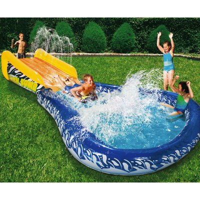 Buy Banzai Wave Crasher Surf Slide Inflatable Body Board 18593