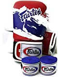 Fairtex Muay Thai Boxing Gloves BGV1 Limited Edition - Thai Pride Size : 10 12 14 16 oz. Training & Sparring Gloves for Kick Boxing MMA K1