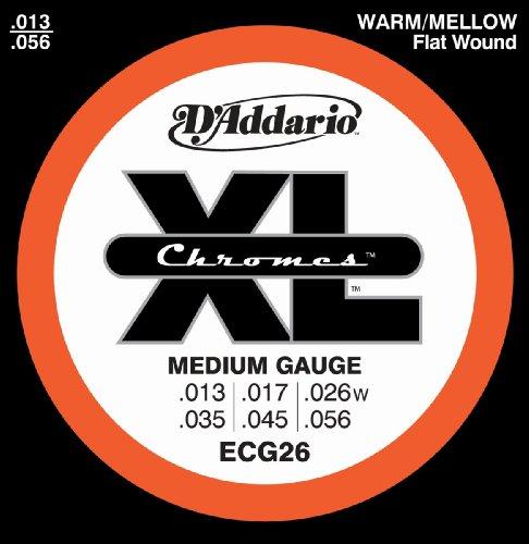 D'Addario ECG26 Chromes Flat Wound Electric Guitar