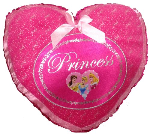Disney Princess Microbead Pillow - Heart Shaped