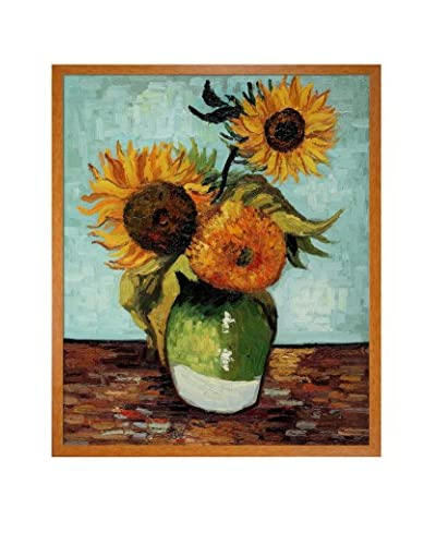 Vincent Van Gogh Sunflowers, First Version Framed Canvas