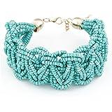 Damen European Bohemian Stil Retro-Perlen Armband geknotet Armkette