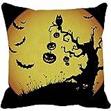 Creazy NICE Halloween Pumpkin Square Pillow Cover Cushion Case Pillowcase Zipper Closure (B)