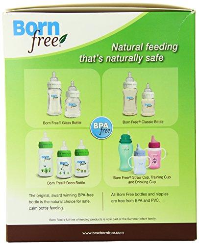 Born Free 新生儿 防胀气奶瓶套装(4个奶瓶 + 6奶嘴 + 奶瓶刷 + 奶粉盒)图片