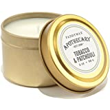 Paddywax Apothecary Collection Candle Travel Tins (Set Of 4), Tobacco & Patchouli, Gold