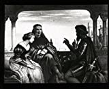 Antique Glass Slide - Othello Relating Adventures [Illustration, William Shakespeare]