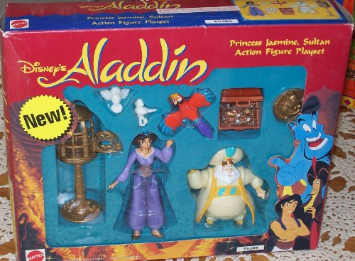 Buy Low Price Mattel DISNEY ALADDIN PRINCESS JASMINE, SULTAN ACTION FIGURE GIFT SET (B002E7Y3PU)