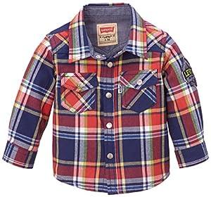Levi's - Camiseta a cuadros de manga corta para bebé