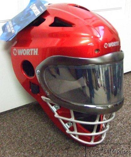 Worth WCHSH baseball catchers gear helmet mask NEW Red