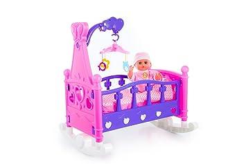 Kinderplay Lit Poupée Fille maman jeu de role bebe KP2957