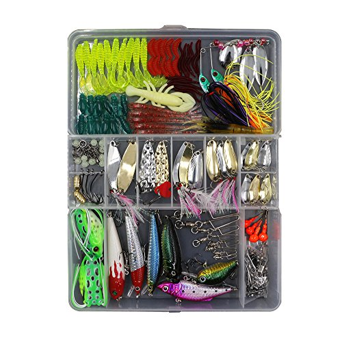 Threemart-Fishing-Lure-Set-Including-Spoon-LuresSoft-Plastic-LuresPopperCrankRattlinSpinnerbaits-and-More