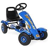 TecTake Go Kart Coche con Pedales azul