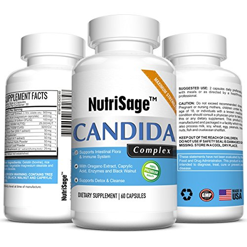 Premium Candida Cleanse - Fights Candida Yeast Infection & Overgrowth -Natural Cleansing Detox Supplement with Antifungal Cleaner Herbs, Oregano & Caprylic Acid For Candida Fungus - Order Risk Free (Formula 3 Antifungal Professional compare prices)