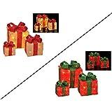 Stimmungsvoll beleuchtete Geschenkeboxen (Rot)