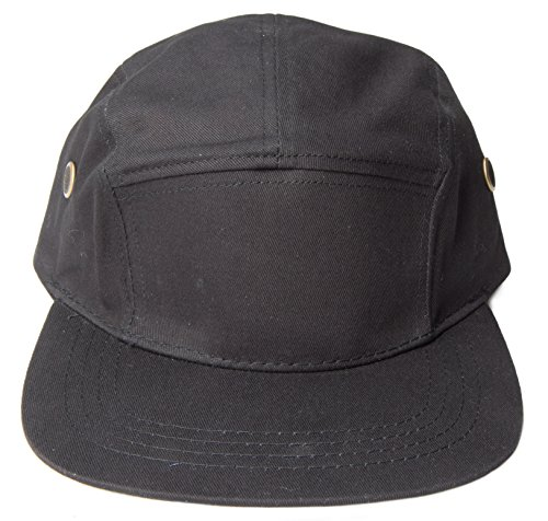 5-Panel-Hats-One-Size-Black-Canvas