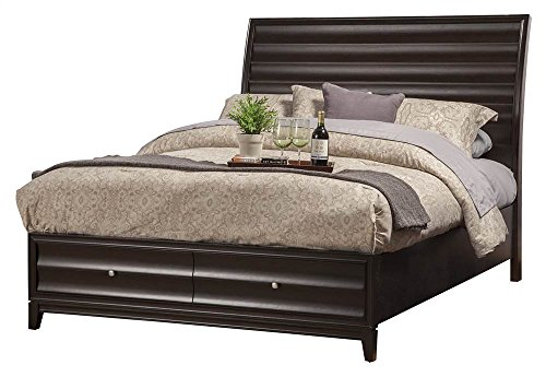Video review storage platform bed with 2 drawers cal king 91 in l x 76 in w x 55 in h - Cal king bed with drawers ...
