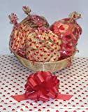 Scott's Cakes Large Valentines Day Cookie Lovers Basket with no Handle Heart Wrapping