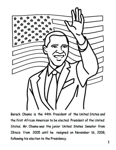 Pin Coloring Page Barack Obama Img 12690 On Pinterest Barack Obama Coloring Page