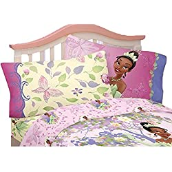 4pc Disney Princess and the Frog Full Bed Sheet Set Southern Butterfly Bedding Accessories