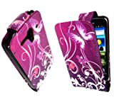 MobileExtraLtd® For Huawei Ascend G300 Attractive New Design Ultra Butterfly On Purple Printed Pouch PU Leather Magnetic Protected Flip Case Cover + Stylus