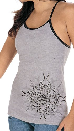 Harley-Davidson® Womens Heat Wave Grey Tank (X-Large)