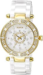 Aspen Ceramic Analog White Dial Womens Watch - AP1640