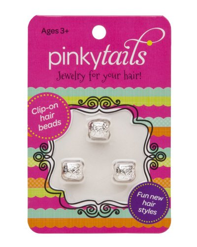 Pinkytails Hair Jewelry Clips, Shiny Swirls - 1