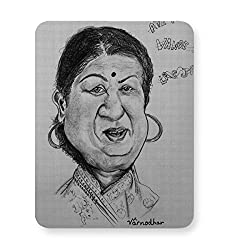 PosterGuy Mouse Pad - Lata Mangeshkar Music, Personality, Personalities, Legend