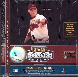 2004 Playoff Honors Baseball Cards Hobby Box