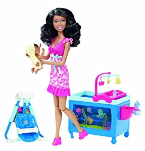 Amazon Com Barbie I Can Be Baby Caregiver African