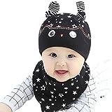 MIOIM® Bebé Sombrero de Lindo con Babero Triangular de Cartoon de Algodón de Impreso Sombrero de Verano Viaje para Baby Niños