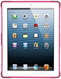 Mpero Collection Tough Rugged Kick Stand Case for Apple iPad with Retina Display 3rd and 4th Generation - Black/Hot Pink