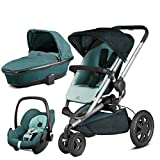 Quinny Buzz Xtra Novel Nile with Carrycot and Pebble Car Seat