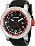 "red line Men's RL-50049-01-RDA ""Torque Sport"" Stainless Steel Watch With Black Silicone Band"