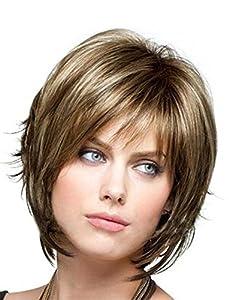 Maysu short straight Fashion Layered bob wigs healthy women's wigs synthetic by MAYSU