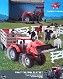 Massey Ferguson Tractor Farm Playset MF 8690 Red Tractor and Trailer